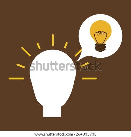 Big idea design over brown background, vector illustration