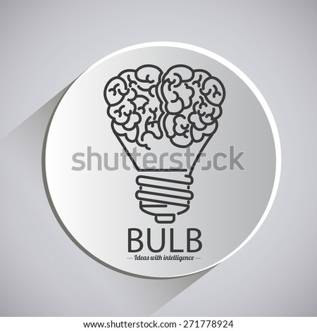 Big idea design over grey background, vector illustration - stock vector