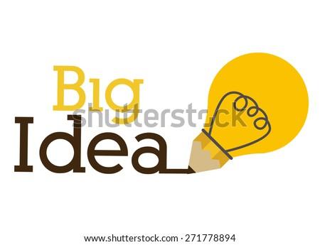 Big idea design over white background, vector illustration - stock vector