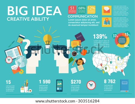 Big infographics set in flat style. Vector illustrations about E-commerce, shopping, money savings and finance tools, banking services, financial management items, business accounting. - stock vector