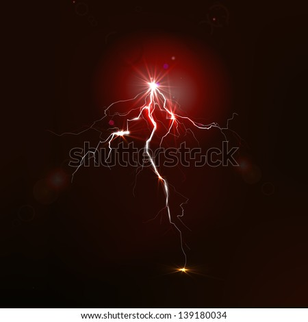 Big lightning on the sky - stock vector
