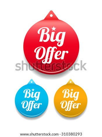 Big Offer Round Tag