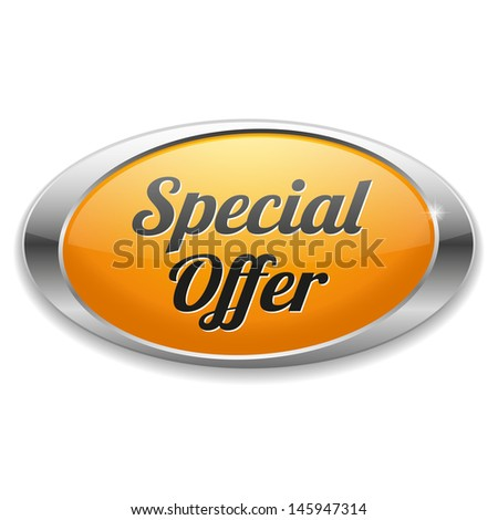 Big oval yellow special offer button