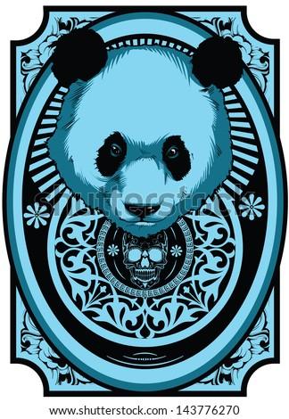 Big panda - stock vector