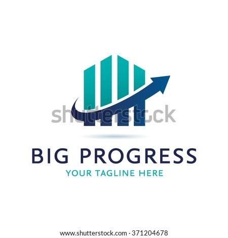 Big Progress Logo Icon Elements Template - stock vector