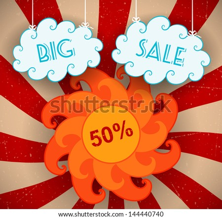 Big sale background. Vector illustration - stock vector