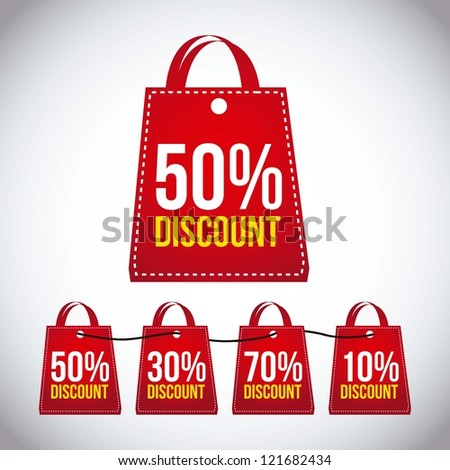 big sale bags over gray background. vector - stock vector