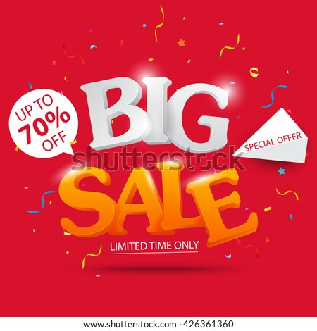 Big Sale banner and best offer design  - stock vector
