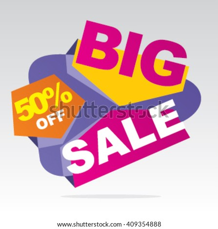 Big sale banner. Vector illustration