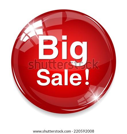 big sale button - stock vector