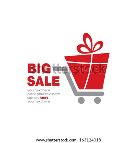 big sale concept - stock vector