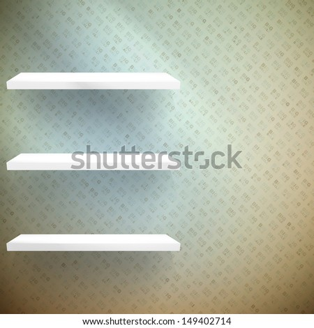 Big Sale 3d isolated Empty shelves for exhibit. EPS 10