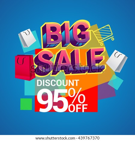 big sale discount 90 off vector design for banner flyer and brochure for event
