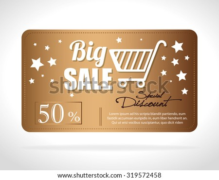 Big sale discounts and offers shopping design, vector illustration.