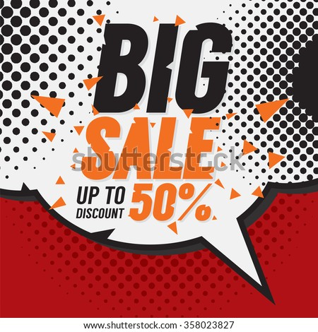 Big Sale 50 Percent Vector Illustration