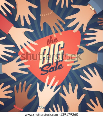 Big sale poster - stock vector