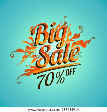 Big sale promo department store. Sale and discounts. Vector illustration.
