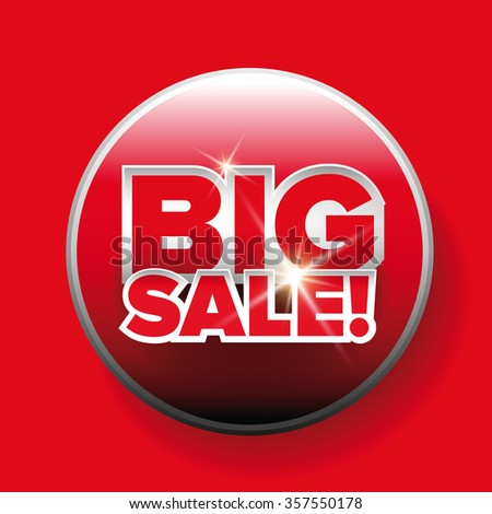 Big sale red button vector