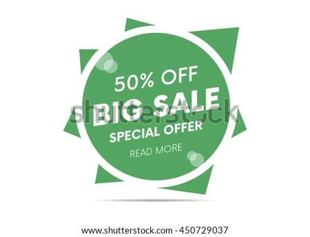 Big sale, special offer web banner and poster, background. Read more place. Vector illustration.