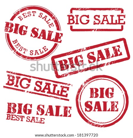 Big Sale Stamp Set - stock vector