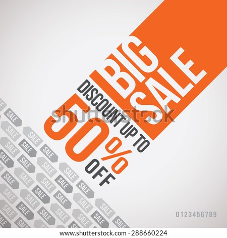 Big sale up to 50% off. Vector illustration - stock vector