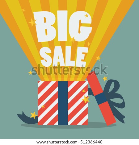 Big sale with a Christmas gift box