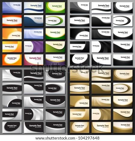Big set of business card templates. - stock vector