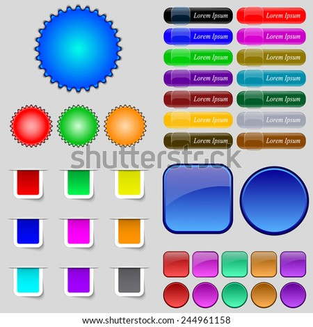 Big set of different colored buttons. Trendy, modern design for your web site. Vector illustration