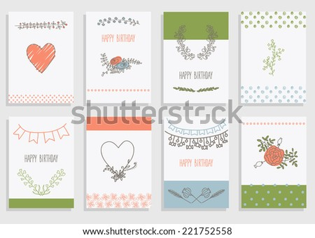 Big set of floral graphic design elements graphic, wreaths, ribbons and labels. for greeting card. - stock vector