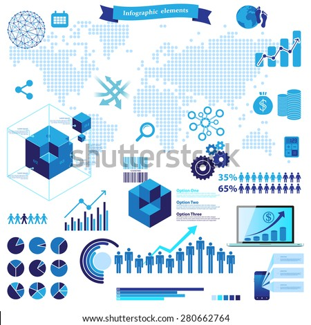 Big set of infographic elements - stock vector