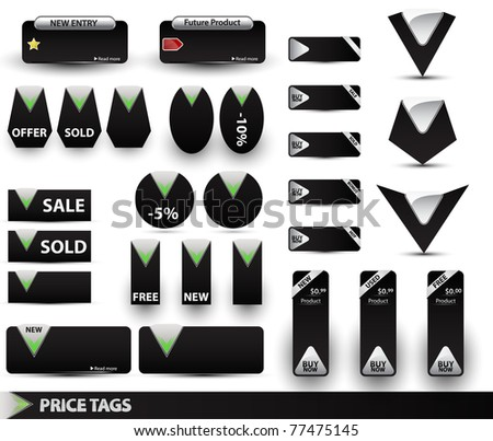 Big set of price tags.Vector illustration.