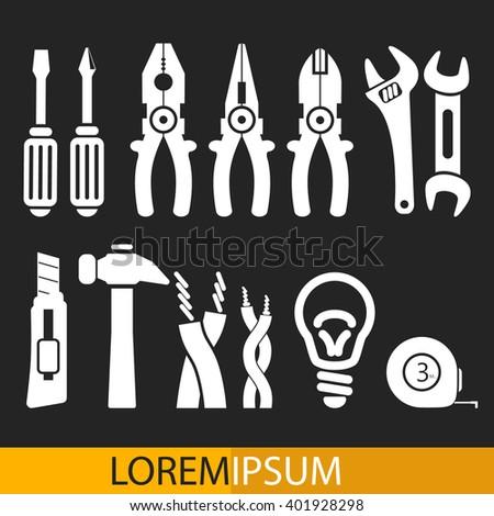 Big Set Of Professional Electrician Tools