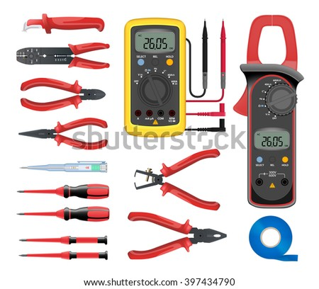 electrician tools stock images royalty free images. Black Bedroom Furniture Sets. Home Design Ideas