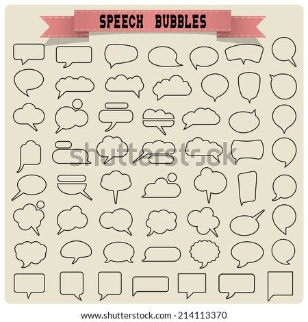 Big set of speech bubbles. Vector collection - stock vector