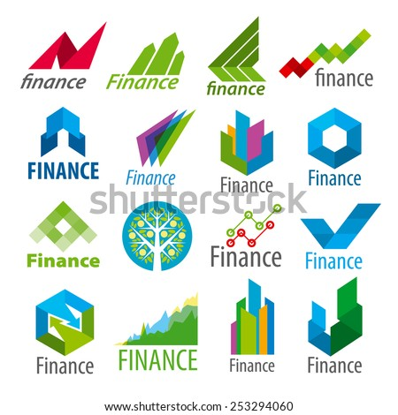big set of vector logos Finance - stock vector