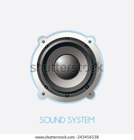 big speaker isolated. vector illustration - stock vector