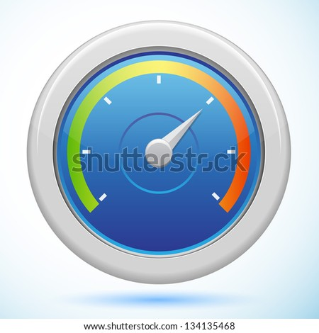 Big Speedometer isolated - stock vector