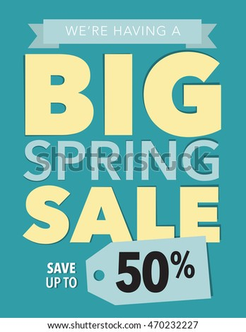Big spring sale save up to 50% off