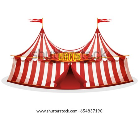 Big Top Circus Tent/ Illustration of a cartoon big top circus tent with red  sc 1 st  Shutterstock & Funfair Stock Images Royalty-Free Images u0026 Vectors | Shutterstock