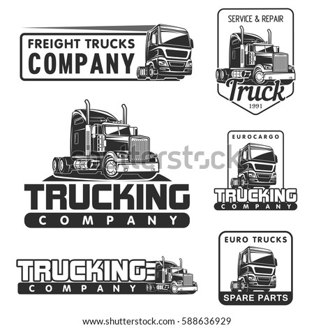 Big Truck Car Logo Illustration Vector 588636929