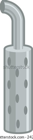 big truck exhaust - stock vector