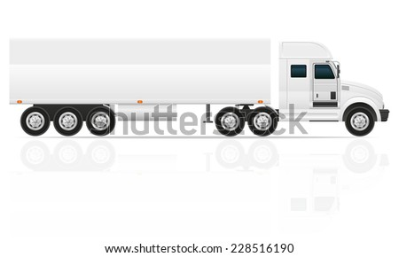 big truck tractor for transportation cargo vector illustration isolated on white background - stock vector