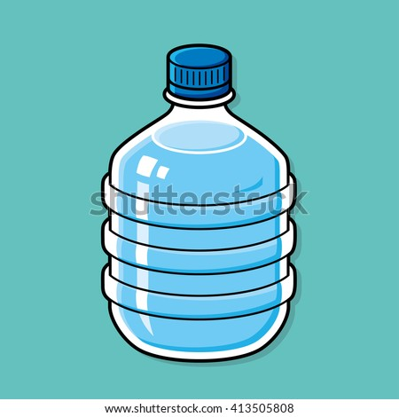 Big water bottle illustration. - stock vector