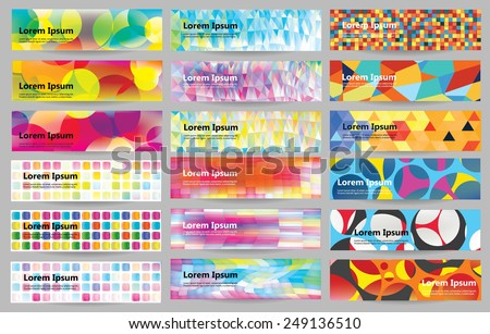 Big web banners set - stock vector