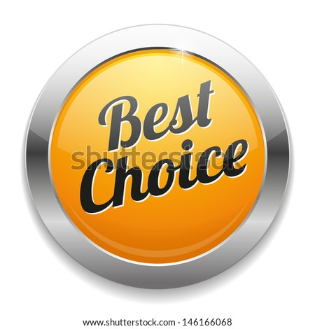 Big yellow best choice button