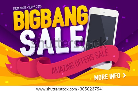 bigbang sale banner - stock vector