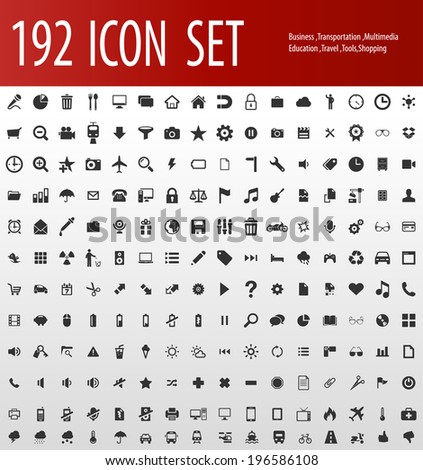 Biggest collection of different icons