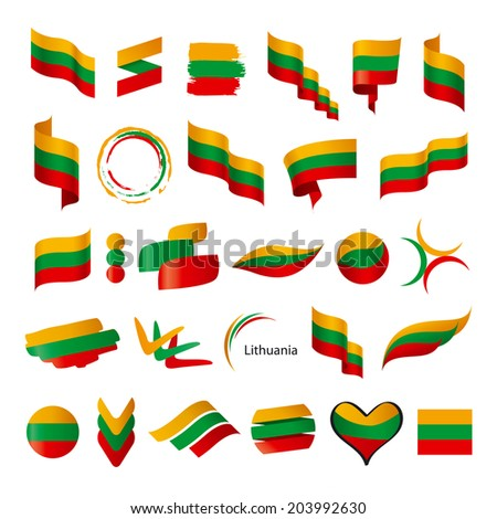 biggest collection of vector flags of Lithuania - stock vector