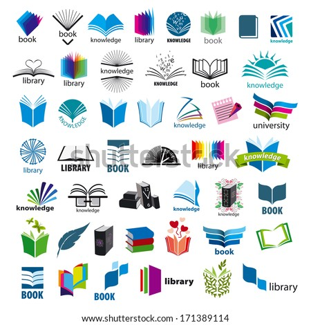 biggest collection of vector icons books - stock vector