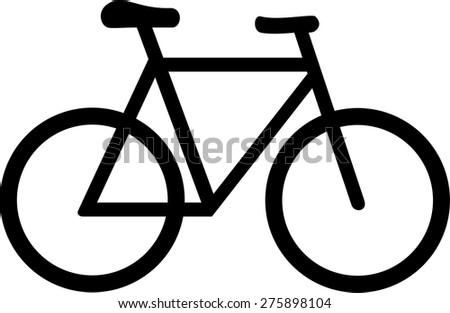 Bike Bicycle Symbol - stock vector